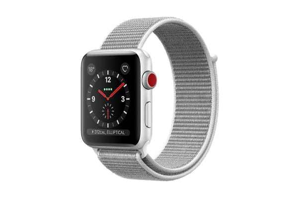 Apple Watch Series 3 (Silver, 38mm, Seashell Sport Loop ...