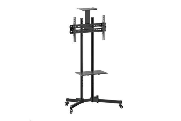 "BRATECK Economy TV Stand 32-55""     Adjustable TV Height with glass shelf.  Max VESA 600x400"