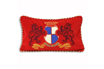Riva Home Carpe Diem Crest Cushion Cover (Bordeaux) (30x50cm)