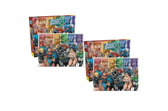 2x 1000pc Aquarius Justice League 69cm Jigsaw Puzzle Pieces Educational 14y+