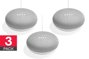 Google Home Mini (Chalk) - 3 Pack
