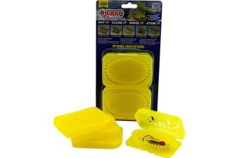4 Pack of Rigrap 8512 Yellow Leader Rig Holders -Tangle Free Fishing Rig Storage