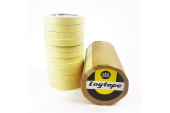 24x Loytape High Temperature Masking Tape Roll 18mm x 50m Automotive Painting