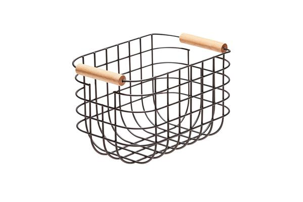 Salt & Pepper Chelsea Wire Basket 27x17x16cm Black