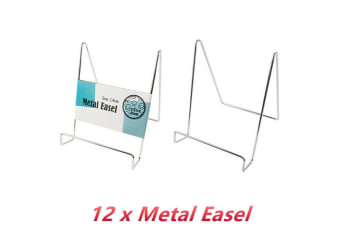 12 x Metal Easel 14CM Silver Display Stand Photo Frame Holder Rack Table Decor Sign
