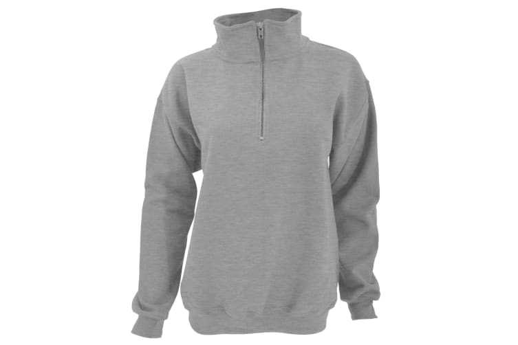 Gildan Adult Vintage 1/4 Zip Sweatshirt Top (Sport Grey) (S)