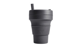 Stojo Biggie Brooklyn Travel Cup 470ml Carbon
