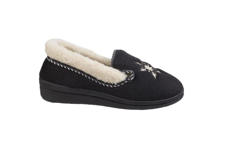 Mirak Womens/Ladies Snowflake Slippers (Black) (3 UK)