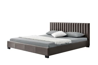 Saba King Size Fabric Bed Frame - Sand