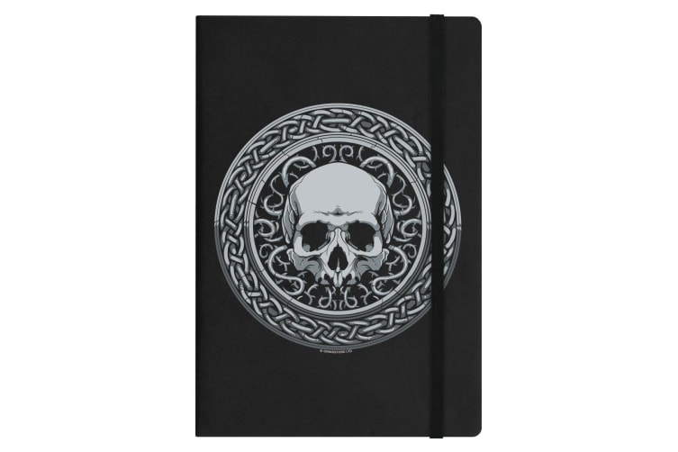 Grindstore Roman Skull A5 Hard Cover Notebook (Black) (One Size)