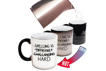 123T Funny Colour Changing Mugs - Spelling Is Hard