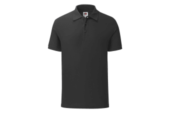 Fruit Of The Loom Mens Iconic Pique Polo Shirt (Black) (M)