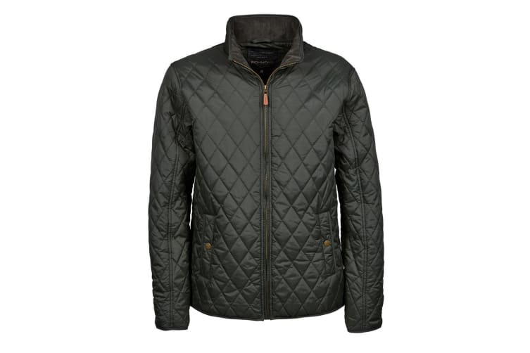 Tee Jays Mens Richmond Diamond Quilted Jacket (Hunter Green) (L)