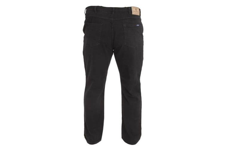 Duke Mens Rockford Kingsize Comfort Fit Jeans (Black) (68L)