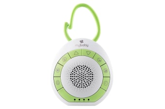 Homedics MyBaby SoundSpa/Music On The Go Speaker for Stroller/Pram White/Green
