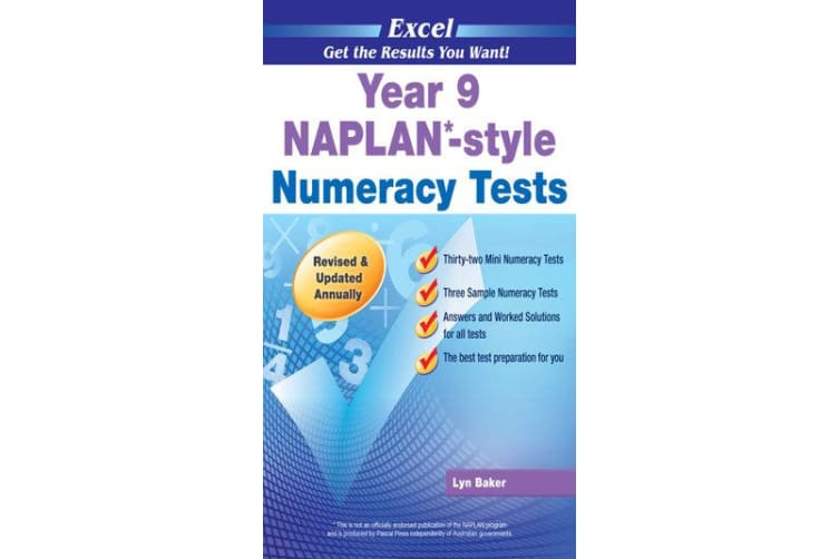 NAPLAN-style Numeracy Tests - Year 9