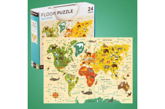 Our World 24pc Kids World Map Geography Floor Puzzle |  41 x 61cm