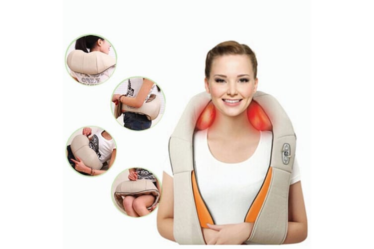 Cervical Neck Shoulders Body Massager Heat Knead Shiatsu Massage Car Home Office
