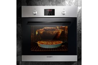 Devanti Electric Built in Wall Oven 60cm Convection Grill Stove Stainless Steel