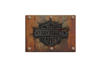 Harley Davidson Made Plate Die Cut Embossed Tin Sign