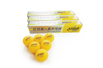 18x DHS 1 Star 40mm Tabel Tennis Ping Pong Training Balls, Orange