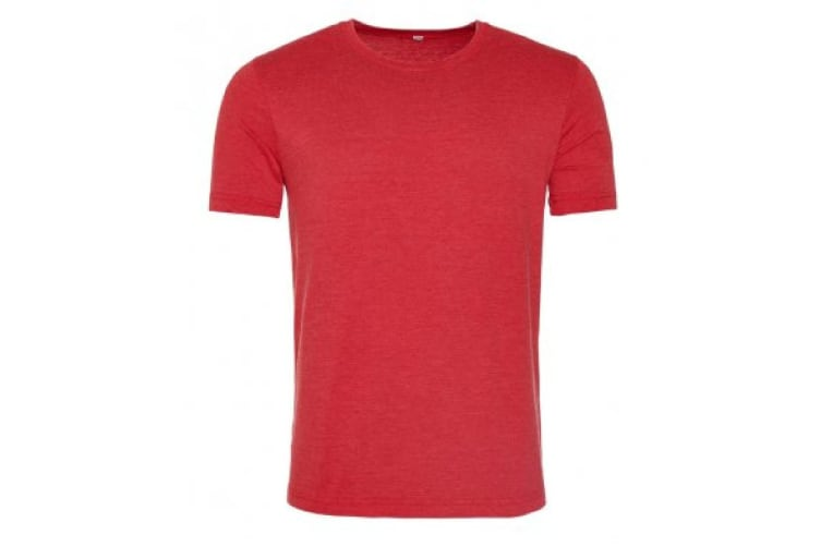 AWDis Mens Washed T Shirt (Washed Fire Red) (Small)