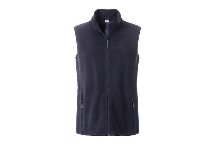 James and Nicholson Mens Workwear Fleece Bodywarmer (Navy/Navy) (XXL)