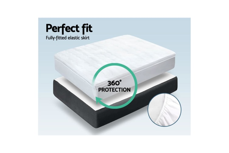 Giselle Bedding 1000GSM Mesh Pillowtop Mattress Topper Protector Cover Single