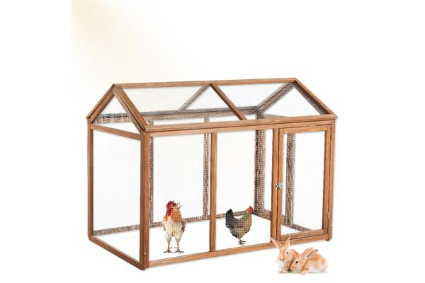 Rabbit Hutch Chicken Coop with Double Run
