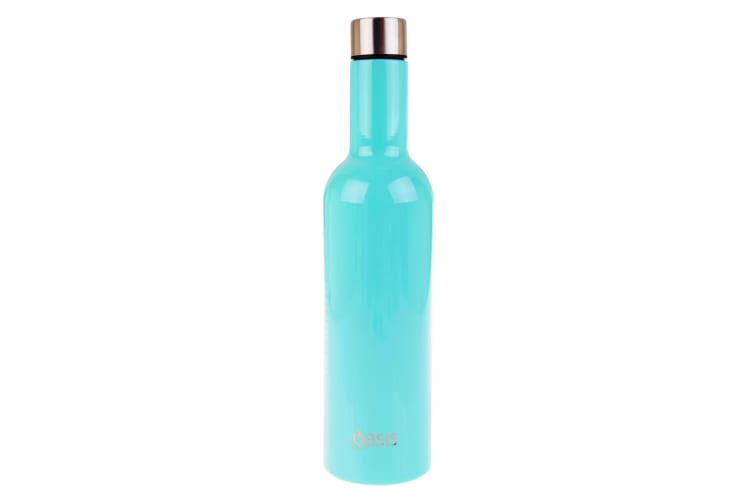 Oasis Stainless Steel Double Wall Insulated Wine Traveller 750ml Spearmint