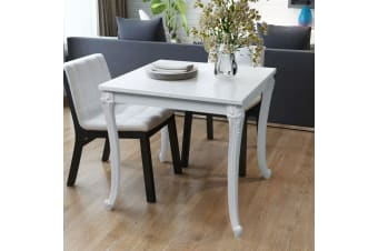 vidaXL Dining Table 80x80x76 cm High Gloss White