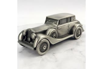 Vintage Car Pewter Money Box
