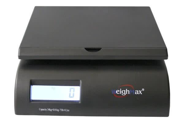 34Kg (75Lb) Digital Postal Scale W/ Blue Backlit Lcd Display 10G Graduation