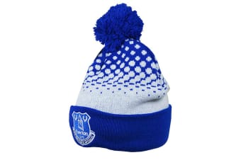 Everton FC Cuff Bobble Knitted Hat (Blue / White) (Adult)