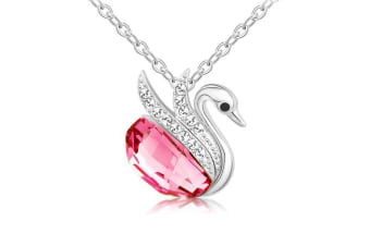 Magnificent Swan Necklace Embellished with Swarovski crystals