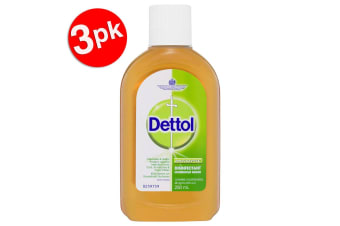 3x Dettol 250ml Antiseptic Surface Disinfectant/Cleaning Home Deodorise/Sanitise