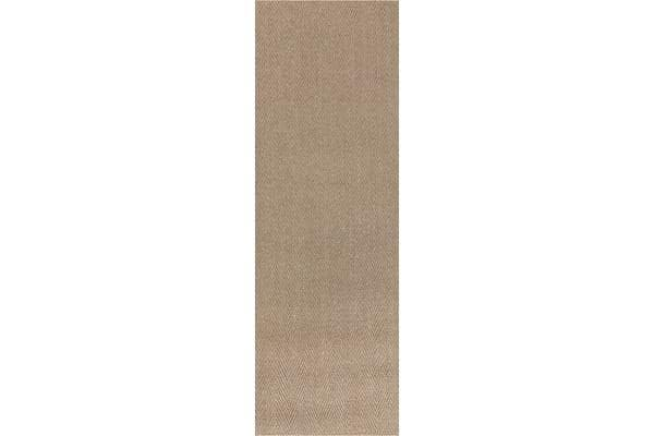 Natural Sisal Rug Herring Bone Sand 300x80cm