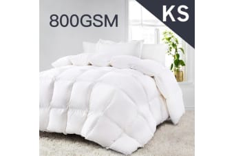 King Single Size 800GSM Quality Ultra-Warm Winter Weight Quilt