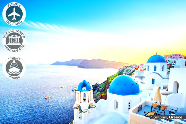 EUROPE: 20 Day European Dream Tour with Mediterranean Cruise Including Flights For One (Oceanview Cabin, Single Room)