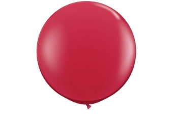 Qualatex 5 Inch Plain Latex Party Balloons (Pack Of 100) (48 Colours) (Ruby Red)