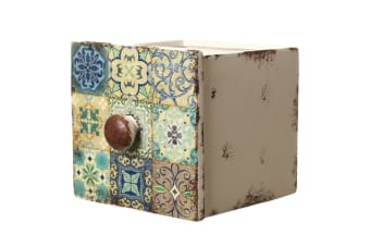 Ceramic Drawer Style Pot (Multicoloured)