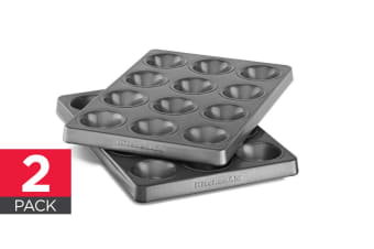 2-Pack KitchenAid Professional-Grade Nonstick 12 Cavity Muffin Pan - Mini (KBNSS12MM)