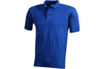 James and Nicholson Unisex Worker Polo Shirt (Royal Blue) (S)