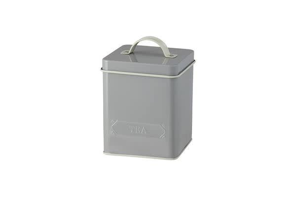 Pantry Embossed Tea Canister Grey