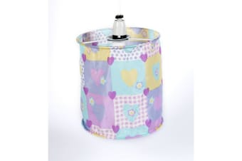 Mucky Fingers Childrens Patterned Lampshade (Hearts)