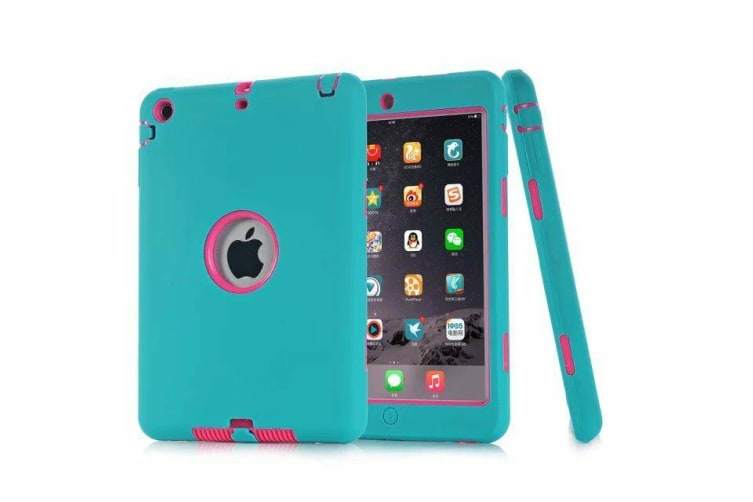 Heavy Duty Shockproof Case Cover For iPad Pro 9.7 Inch 2016-Blue/Hot Pink