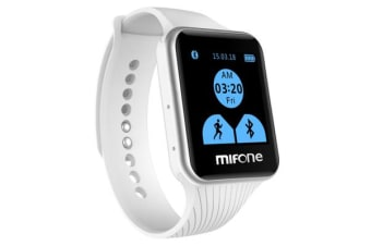 Mifone Smart Watch 2.5D Sapphire Touch Screen Bluetooth Fitness Band White