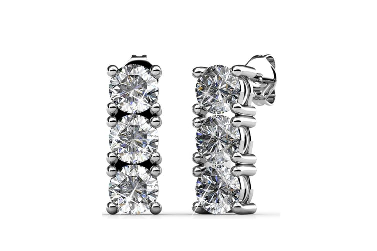 Crystal Tower Brilliance Earrings Embellished with Swarovski crystals