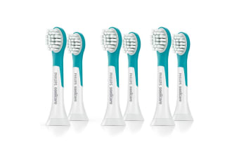 6x Philips HX6032-63 Sonicare for Kids Toothbrush Replacement Heads