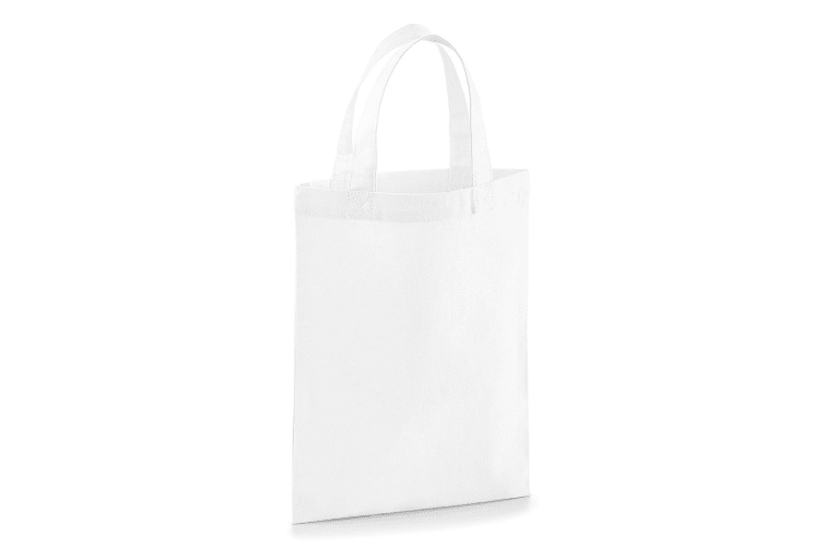 Westford Mill Cotton Party Bag For Life (White) (One Size)